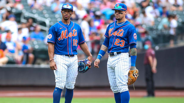 Francisco Lindor and Javier Báez with the Mets.