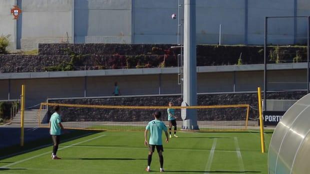 Portugal's last training session before Ireland clash