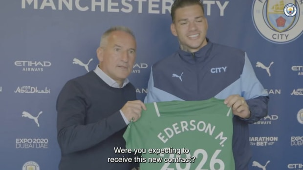 Ederson on signing contract extension at Man City