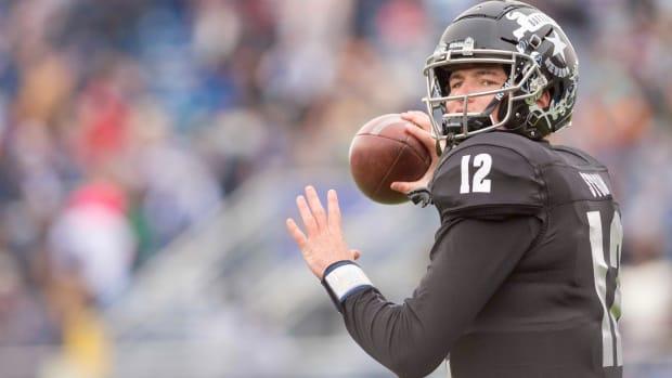 Nevada quarterback Carson Strong