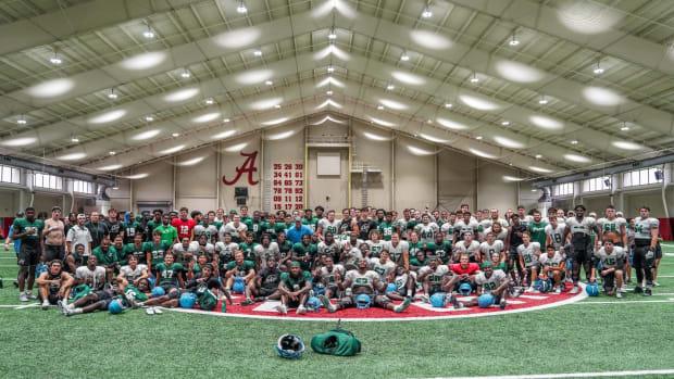 Tulane Football practices at Alabama