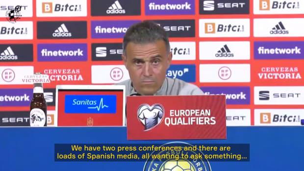 Luis Enrique's funny press conference in Sweden