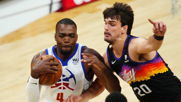 Paul Millsap with the Denver Nuggets