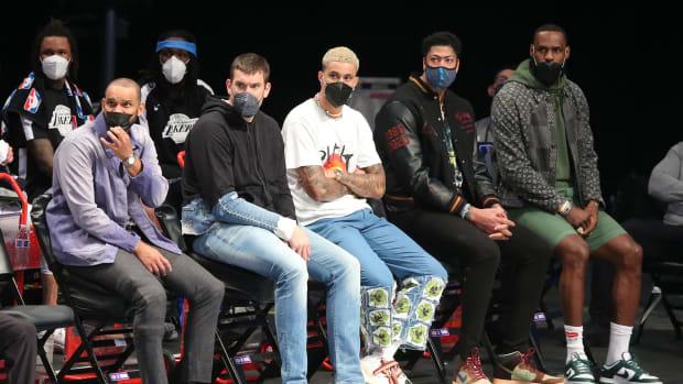Kyle Kuzma, LeBron James, Anthony Davis