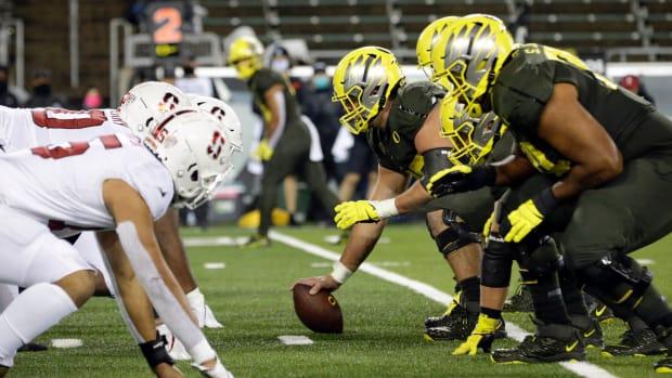 Oregon Offensive Line vs. Stanford 2020