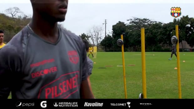 Barcelona SC's reaction time training