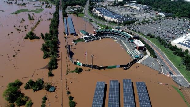 Somerset Patriots TD Bank Ballpark underwater