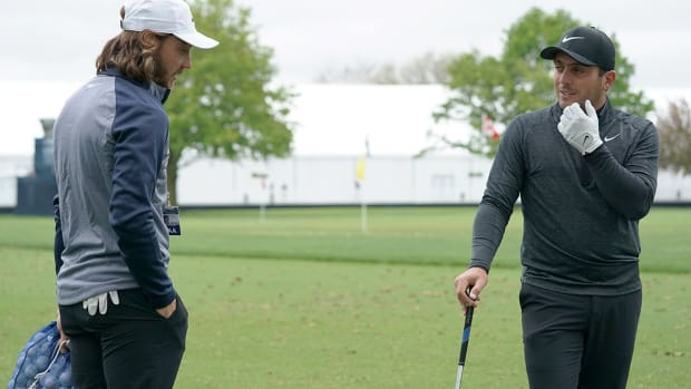 Francesco Molinari (right) and Tommy Fleetwood were the backbone of Europe's 2018 Ryder Cup team.