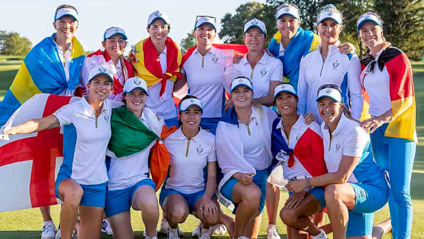 Europe celebrated just its second Solheim Cup win ever on U.S. soil.