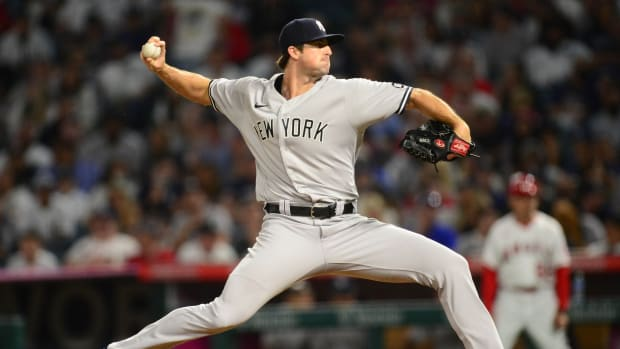 Yankees RP Clay Holmes pitching on the road