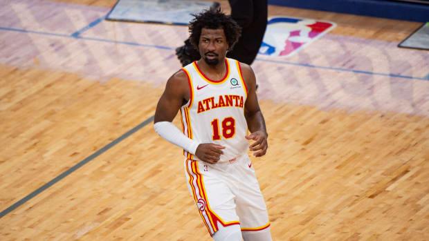 Atlanta Hawks forward Solomon Hill (18) during the game against the Memphis Grizzlies