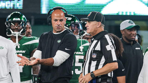 Jets head coach Robert Saleh in preseason