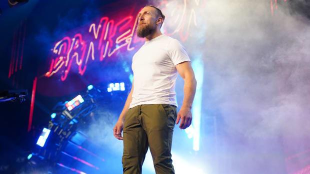 Bryan Danielson walks through the curtain for the first time as an AEW wrestler