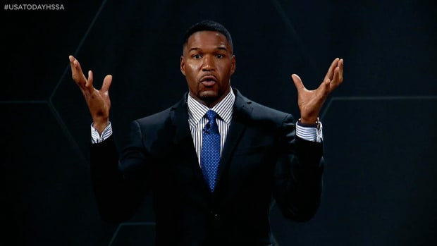 Michael Strahan at the first USA Today High School Sports Awards.
