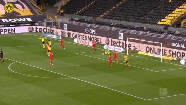 Haaland's two goals sink Leverkusen