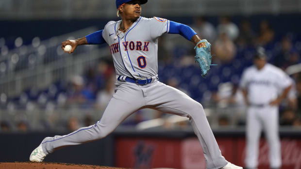 Mets pitcher Marcus Stroman tossed 6.1 innings of one run baseball against the Marlins on Thursday.