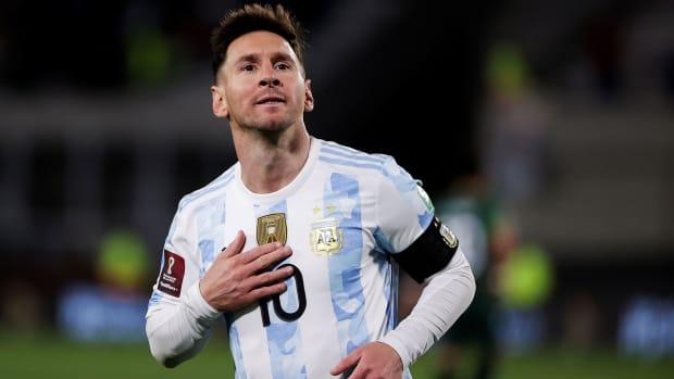 Lionel Messi scores a hat trick for Argentina