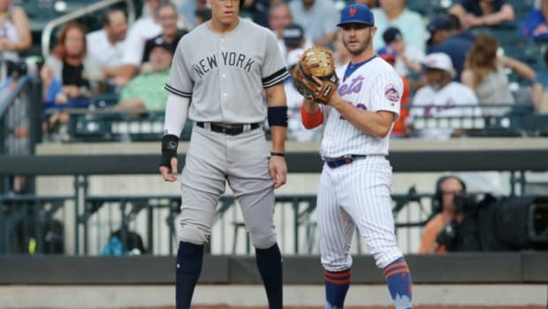 New York's star sluggers — the Yankees' Aaron Judge and the Mets' Pete Alonso.