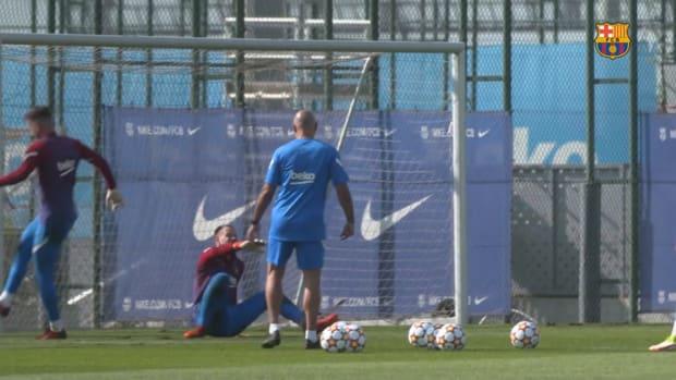 FC Barcelona's international stars return to training