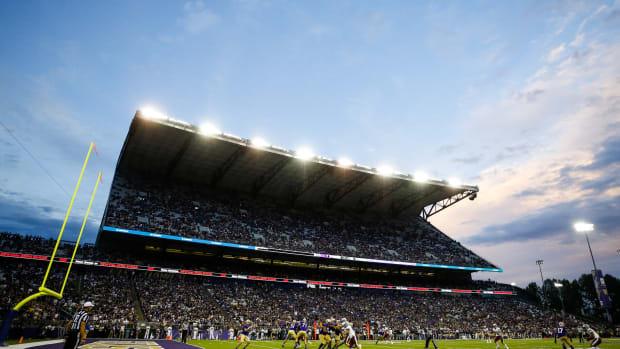 Husky Stadium on opening night.