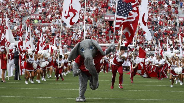 Big Al leads the team out against Mercer