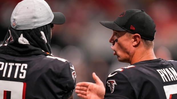 Matt Ryan and Kyle Pitts Atlanta Falcons