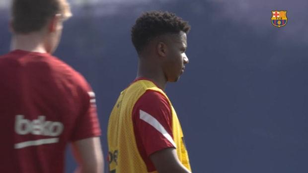 Barcelona prepare for the Bayern clash