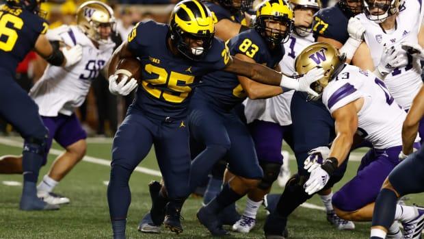 Michigan ran all over the UW defensive line.