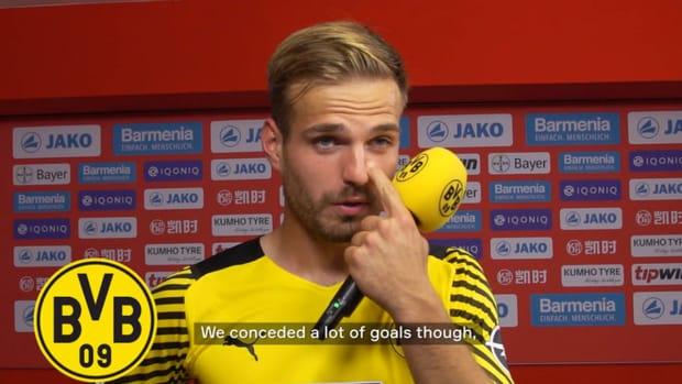 Borussia Dortmund's stars after their thrilling victory over Leverkusen