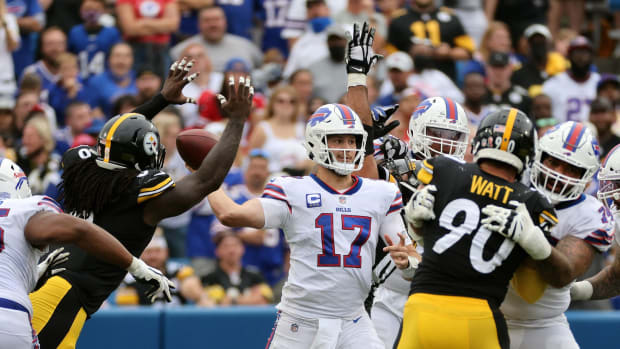 The Steelers made Bills quarterback Josh Allen uncomfortable in the pocket throughout Sunday's season-opening clash.