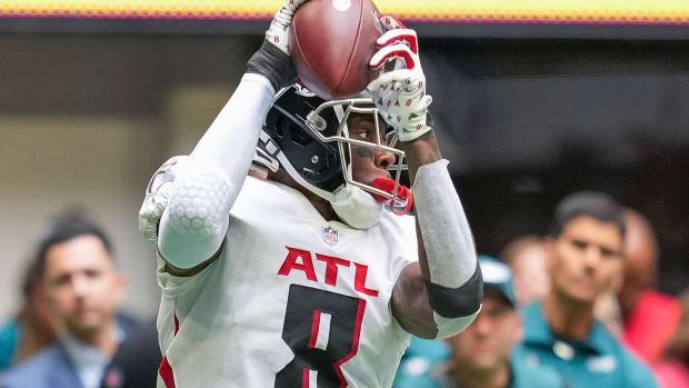 Kyle Pitts Atlanta Falcons vs. Philadelphia Eagles
