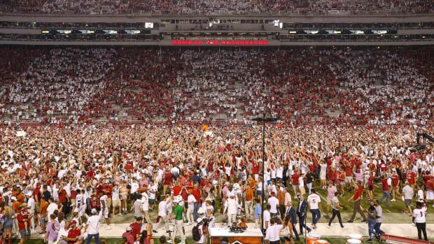 Texas Crowd on Field