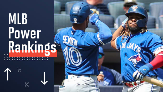 Blue Jays have won 14 of 16 games to take over first place in the AL wild-card race.