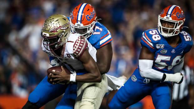 Florida defensive lineman Zachary Carter