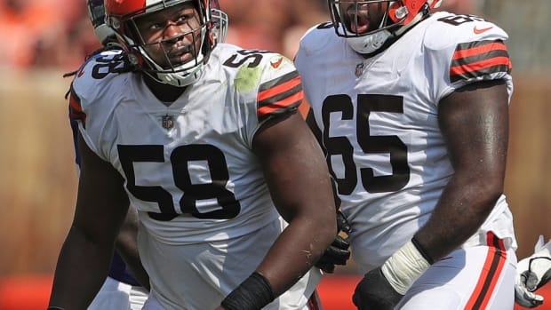 The Browns hope defensive tackle Malik McDowell (58) can return to the form that made him a first-round draft pick. Mcdowell