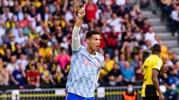 Cristiano Ronaldo scores against Young Boys.