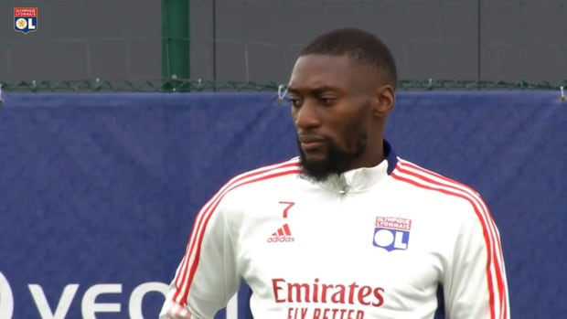 Olympique Lyonnais last training session before the trip to Glasgow