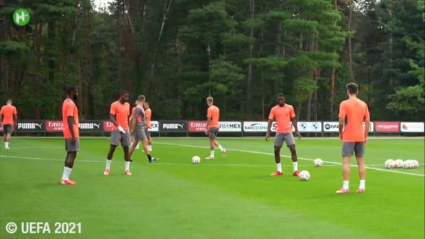 AC Milan's last training ahead of Liverpool clash