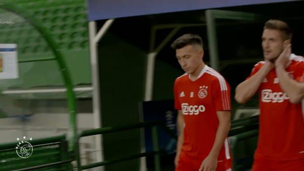 Ajax train in Lisbon, ahead of Champions League opener