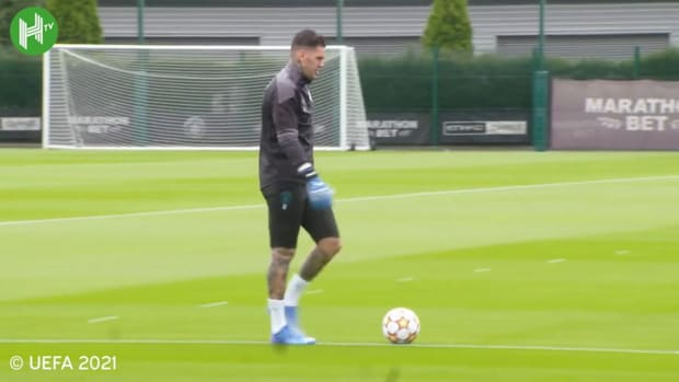 Man City's last training ahead of RB Leipzig clash