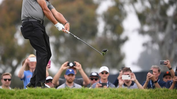Phil Mickelson plays the 2021 U.S. Open.
