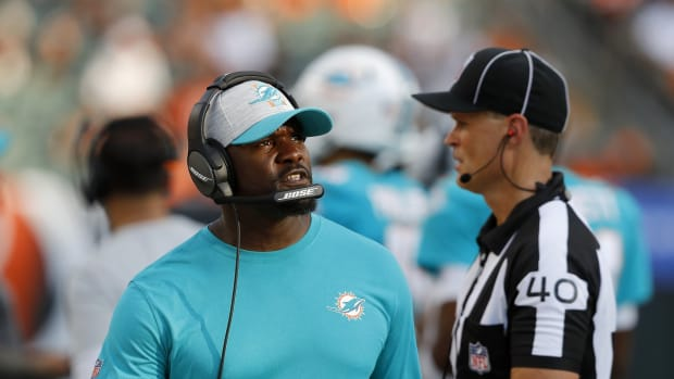 Dolphins coach Brian Flores.
