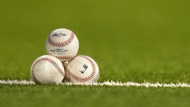 Three baseballs.