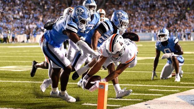Billy Kemp touchdown, Virginia Cavaliers vs North Carolina Tar Heels football
