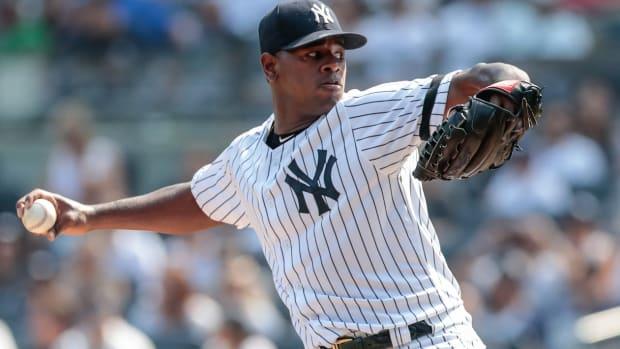 Yankees SP Luis Severino pitching