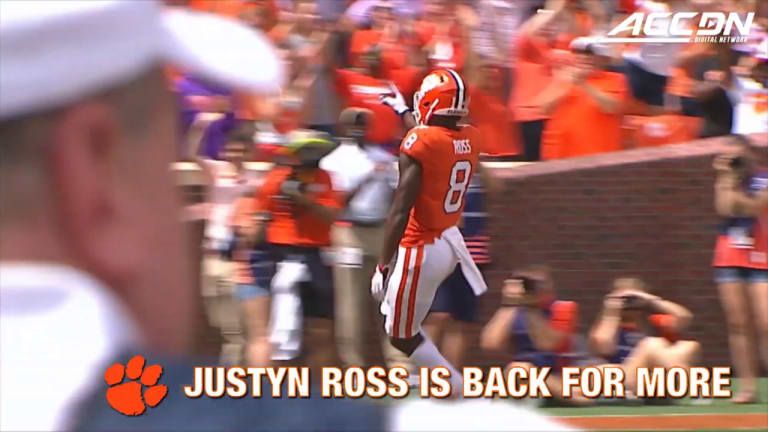 Watch: Justyn Ross— Building on Impressive Freshman Season