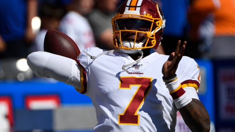 Breaking: Dwayne Haskins enters game, leads FG drive