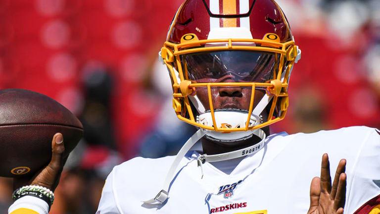Redskins' Dwayne Haskins Makes Regular-Season Debut vs. Giants