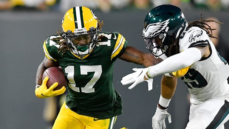 Packers WR Davante Adams Out vs. Cowboys With Toe Injury