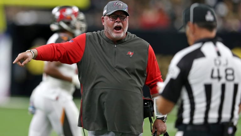 Bruce Arians blasts 'baffling' officiating after loss to Saints